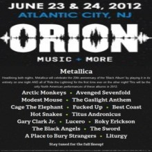 Metallica/Avenged Sevenfold at Orion Music + More - Cosmos