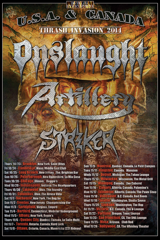 Artillery North American Tour