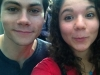 Tory with Dylan O\'Brien of Teen Wolf